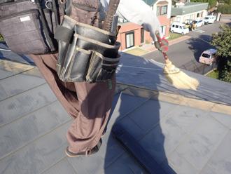 棟板金と貫板を解体・撤去