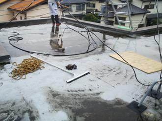 防水工事前の高圧洗浄