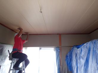 天井の貼り替え完了