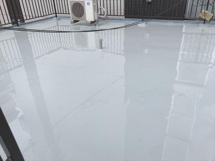 ウレタン塗膜防水工事完了