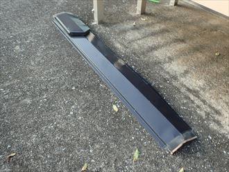 目黒区大岡山で棟板金が落下