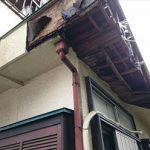 雨漏りによる外壁・軒天の腐食