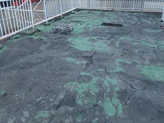 ビル陸屋根の防水層点検