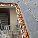 雨樋からの雨漏れ原因は落葉