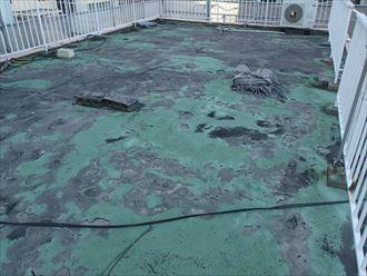 シート防水の経年劣化