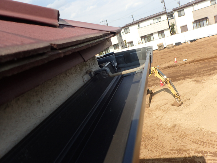 軒樋の修理完了