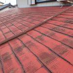 雨漏りしているスレート屋根