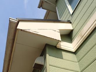 同様の不具合が出ている庇の側面2