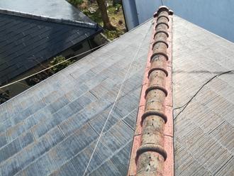 色褪せが激しいスレート屋根