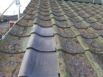 大屋根の瓦の交換