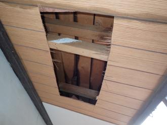有孔板を取り付けるために加工