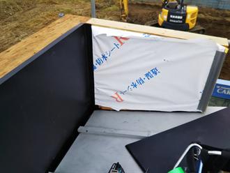 ガルバリウム鋼板でのカバー工事