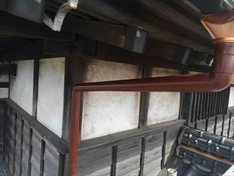 塩ビ製雨樋の交換工事