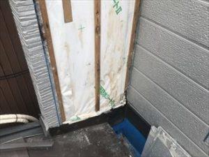 サイディング撤去と透湿防水シートの状態確認