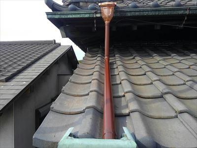 銅製雨樋交換工事完了