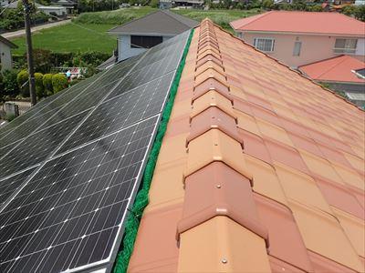 太陽光パネルへのネット設置