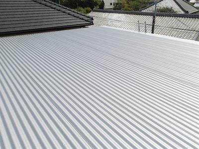 横芝光町屋形で屋根カバー工法による雨漏り解消