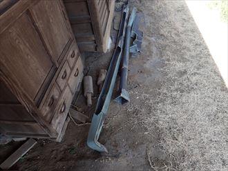 銅製雨樋の破損