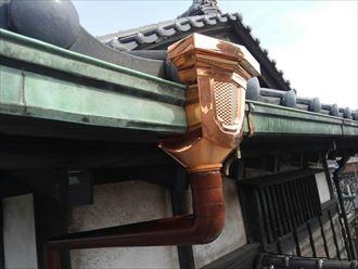 銅製雨樋の交換
