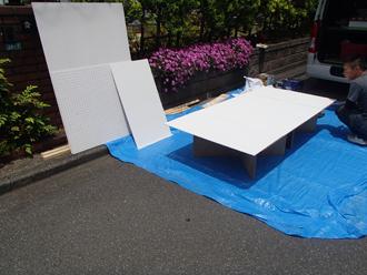 有孔ボードの加工・塗装