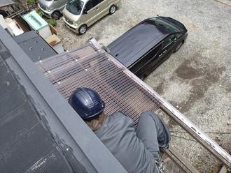 ポリカーボネート製波板の設置
