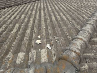 八千代市大和田新田 セメント瓦の漆喰調査