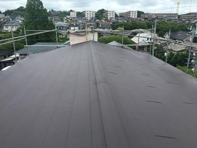 屋根カバー工事でスーパーガルテクトの屋根へ
