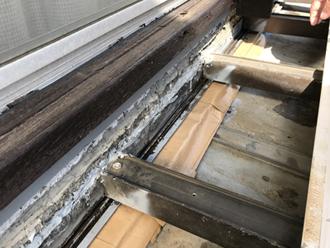 雨漏りの原因となっていた屋根と外壁の取り合い