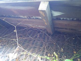 垂木と野地板の腐食