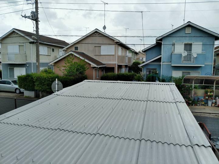 大波スレート屋根葺き替え完了