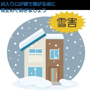 自宅の玄関が雪で塞がり、出られなくなる前に雪止めを設置しましょう