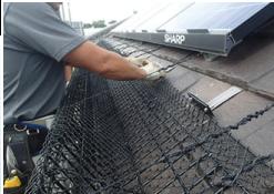 金網で屋根の大部分を被う金網型