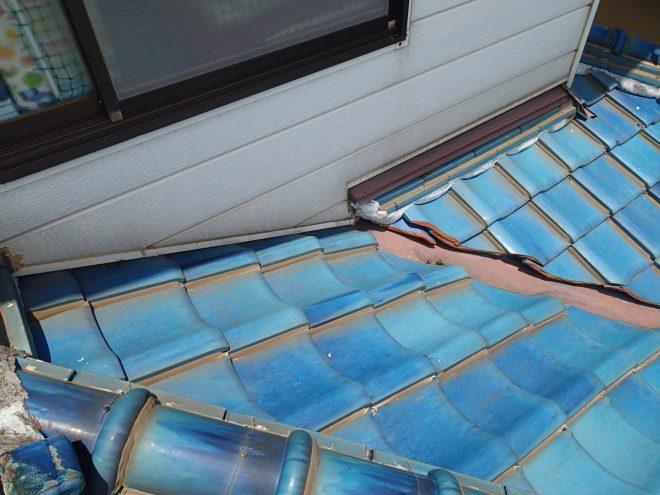 コーキングされた屋根