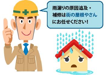 雨漏りについての疑問・補修は街の屋根やさんにお任せください