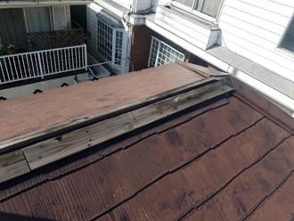 棟板金の撤去と解体