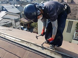 貫板の解体と撤去