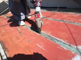 瓦棒屋根の解体