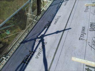 木更津市 防水紙の設置