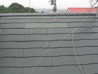 新しい屋根材の取り付け完了