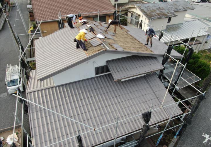 木更津市 屋根葺き替え工事着工