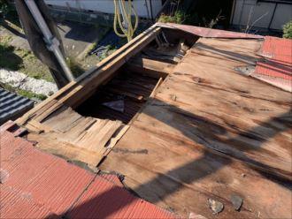 木更津市 剥がれてしまった屋根