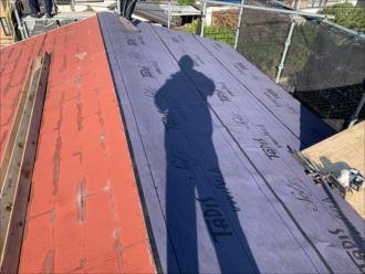 木更津市 片面防水紙の設置完了
