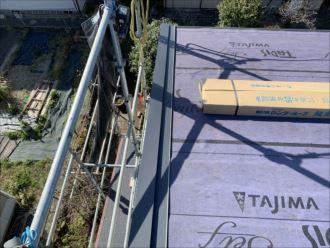 木更津市 屋根袖板金の設置