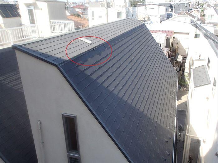 破損した屋根部分