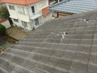 木更津市 雨漏り上部の屋根の状況