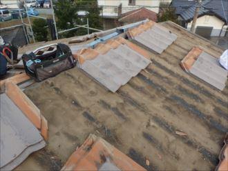 木更津市 屋根材の取外し