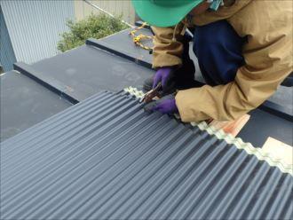 木更津市 屋根材の加工