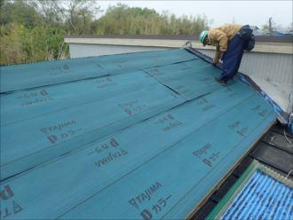 木更津市 防水紙設置完了