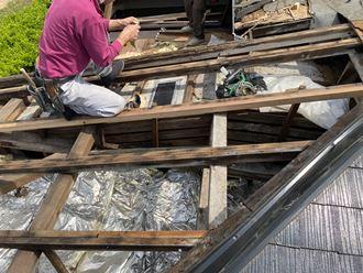 屋根復旧工事
