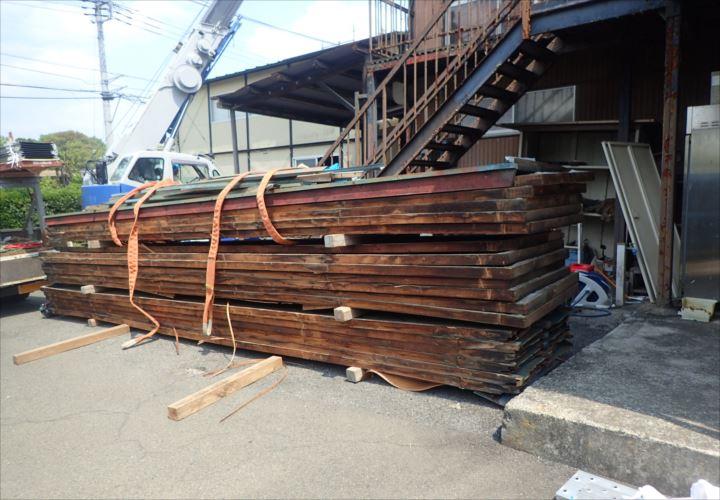 木更津市 取り外した屋根材